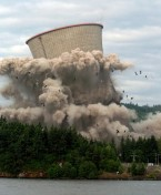 Oregon Nuclear Power Plant Cooling Tower Imploded